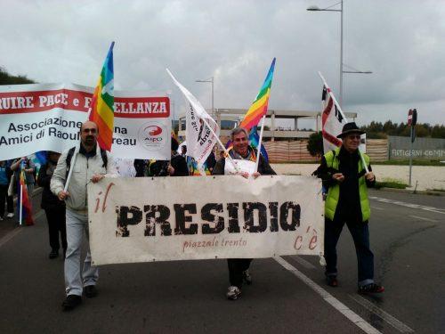 Carbonia, il Presidio alla Marcia della pace